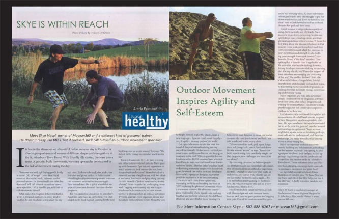 Article in Living Healthy Publication written by Hilary Decarlo